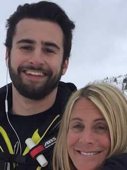 Galganov with his mother, Alisa Clamen