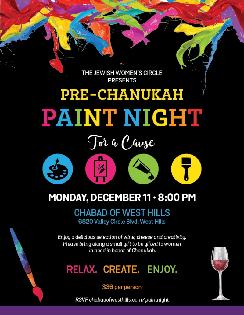 Paint Night For Women Chabad Of West Hills