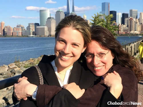 Mother and daughter, pictured in New York City, will both be living in Israel by year's end.