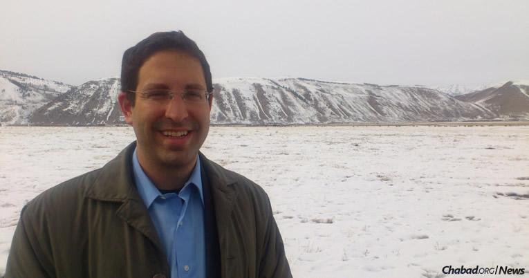 Gil Hoffman tours snowy Jackson Hole, Wyo., ahead of his talk at the local Chabad House.