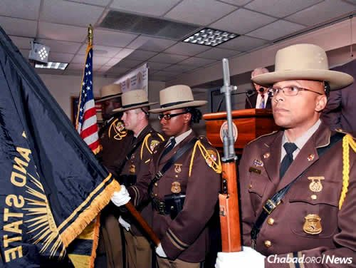 The event started with the Maryland State Police Honor Guard presenting the colors.