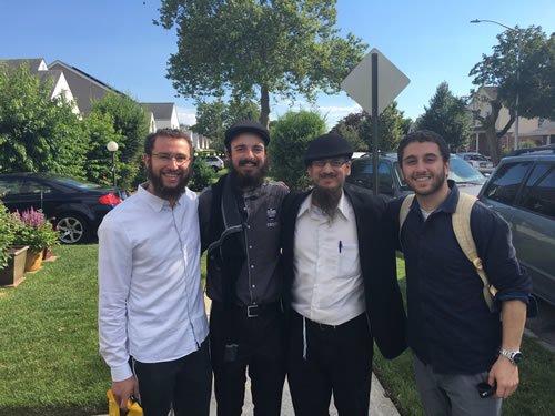 Yeshiva friends (left to right): Dov from Rhode Island, Yosef Yitzchok from Johannesburg, Joshua (the author) from Wisconsin, Eitan from Argentina.