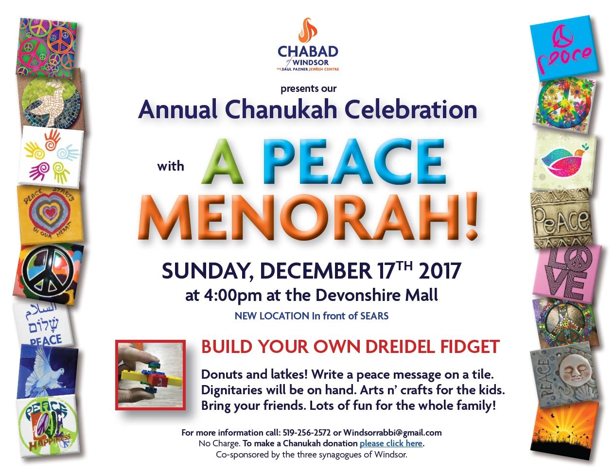 Come light the Peace Menorah