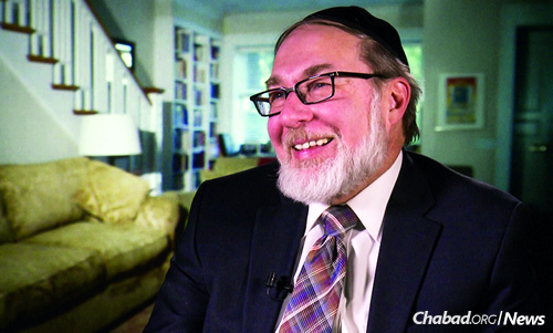 Growing up in Brownsville, Brooklyn, Avraham Kiss worked as a grocery delivery boy in nearby Crown Heights. One of his regular drop-offs was Rebbetzin Chana Schneerson, the Rebbe's mother, and on a few occasions the Rebbe was there helping her when the items arrived. (Photo: Jewish Educational Media/The Living Archive)