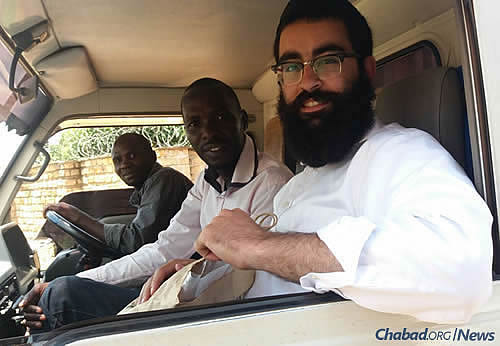 The rabbi in the capital city of Kampala