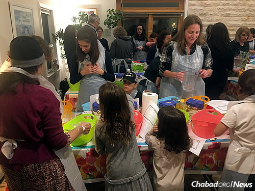 Women and girls participate in regular challah-making workshops at the Shabbat House.
