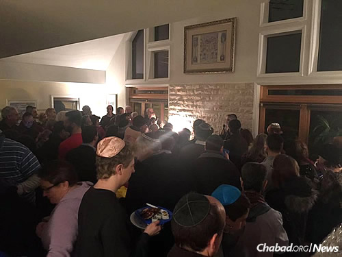 About 200 people attended the dedication of the Shabbat House in 2016.