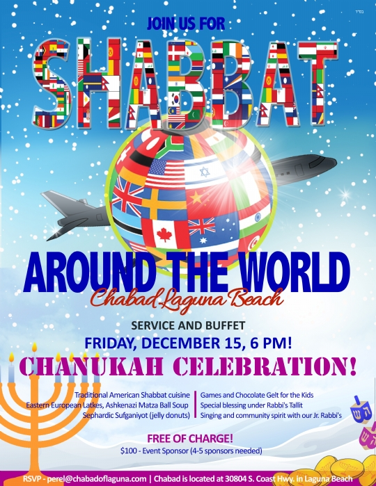 Shabbat around the world chanuka Laguna Beach.jpg