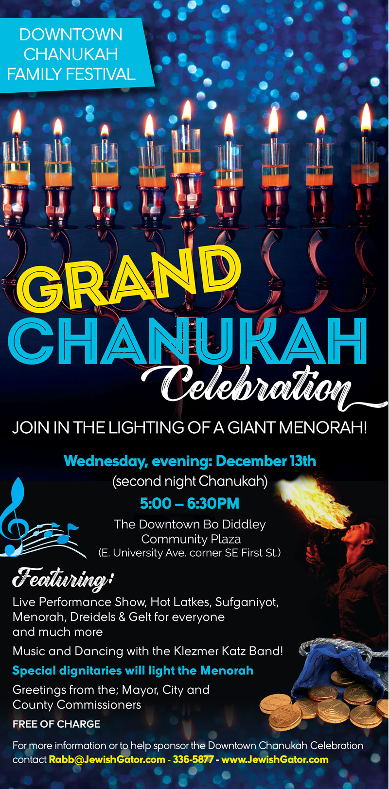 Downtown Chanukah Family Festival Jewish Center At University Of