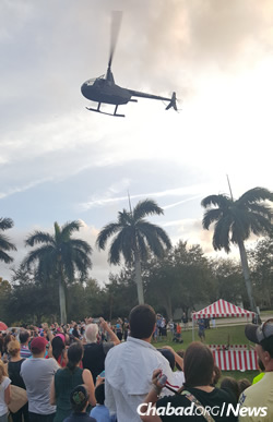 The Chabad Jewish Center in Jupiter, Fla., will again have chocolate-coin gelt raining down from a helicopter.