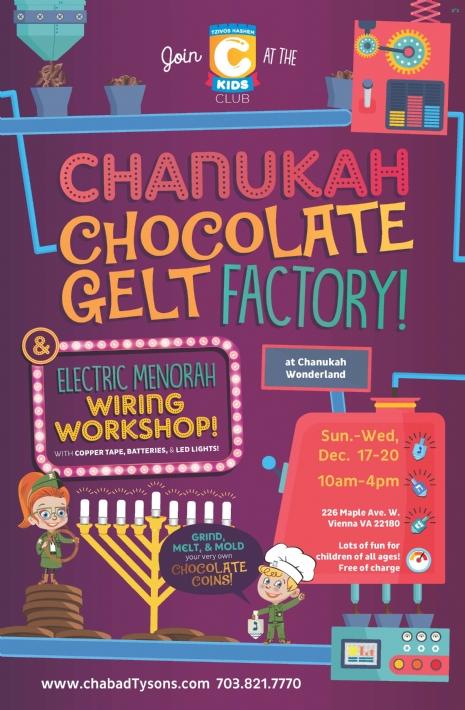 Chanukah chocolate gelt factory.jpg