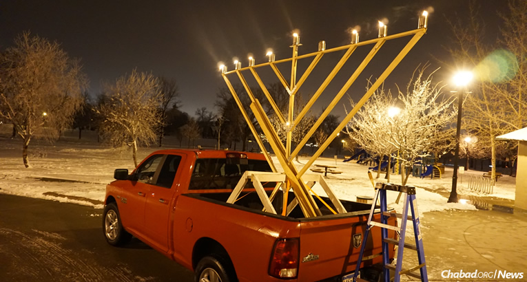A mobile menorah driven by Chabad emissaries in North Dakota turns heads every Chanukah. Neighboring South Dakota became the 50th state in America with a permanent Chabad presence and this year will hold a menorah-lighting in front of none other than Mount Rushmore. Chabad will bring the light of Chanukah to 8 million Jewish people in more than 100 countries and territories worldwide.