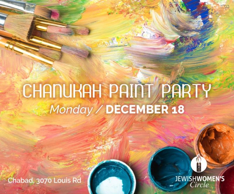 Chanukah Paint Party Mon Dec 18