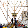 Up Goes World's Largest Menorah for 40th Year