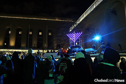 The Chanukah celebration has been held in Sweden for 26 years, though it was marked by concern and insecurity this year as attacks against Jews have grown.