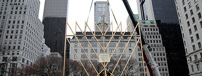December 2017: Up Goes World's Largest Menorah for 40th Year