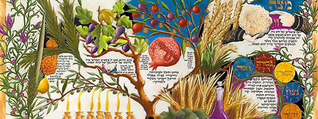 Art & Poetry: Artist Rendition of the Seven Species of Israel