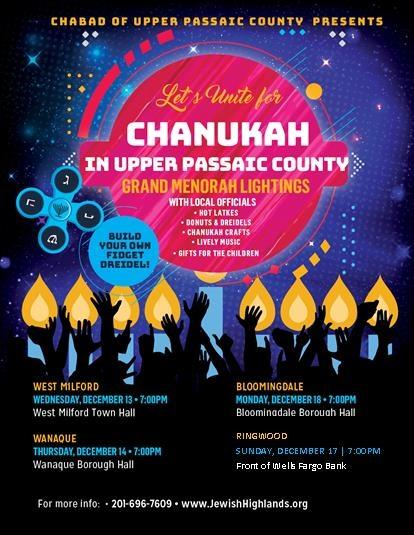 Community Menorah Lightings - Chabad Jewish Center Upper