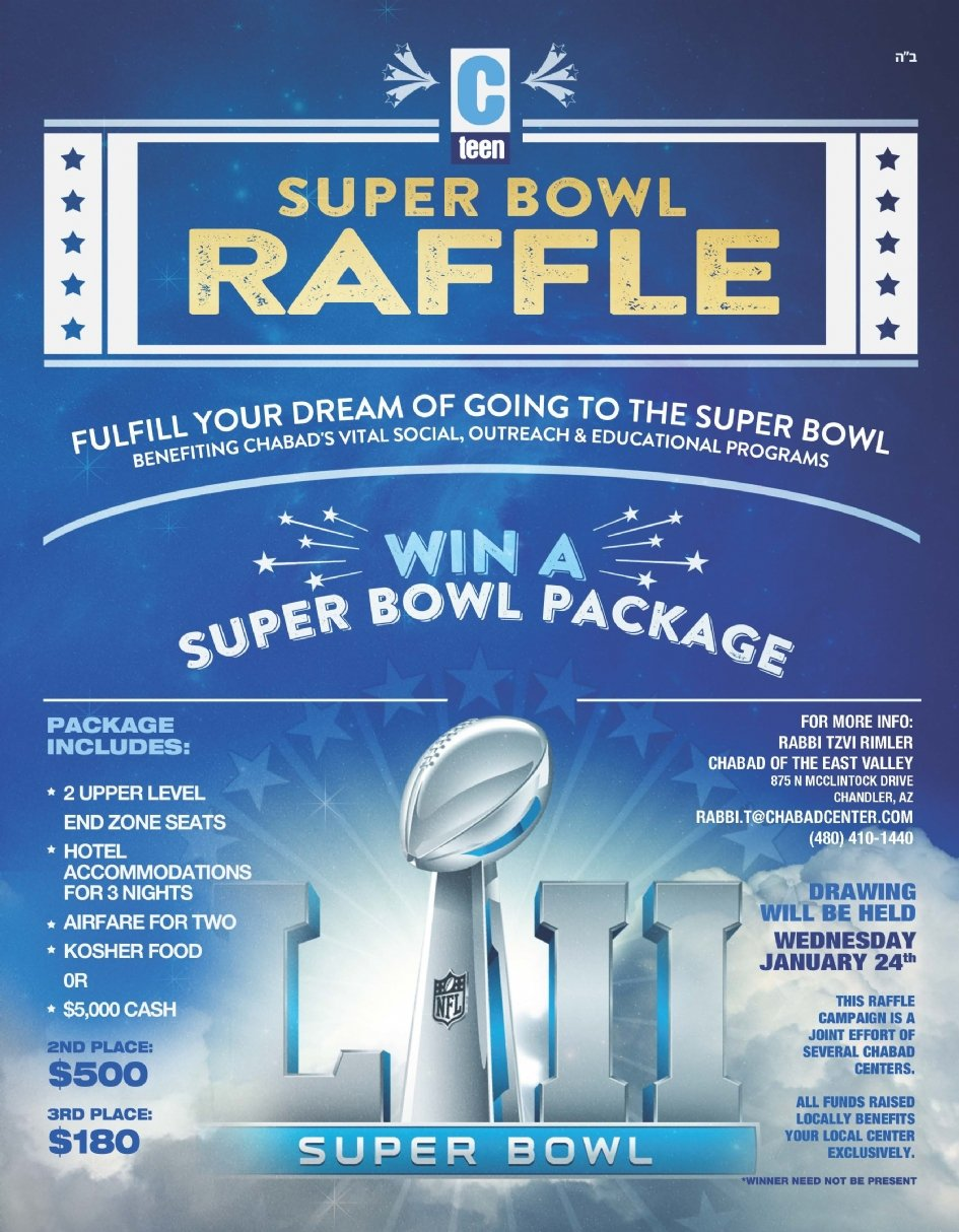 cTeen SuperBowl Raffle - Chabad of the East Valley