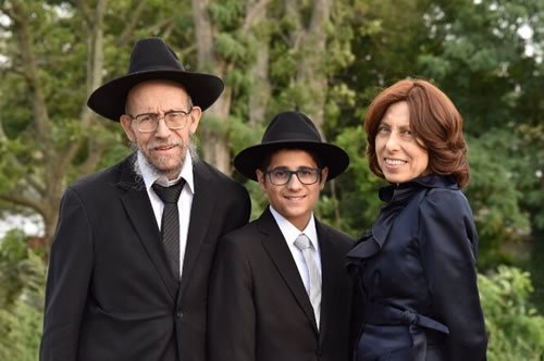 Yaffa and her husband at their grandson's bar mitzvah.