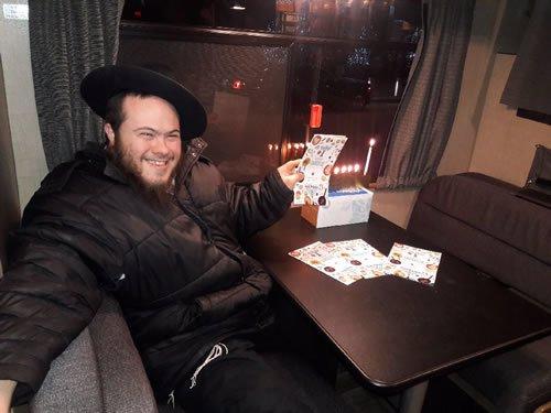 Dovid on Chanukah spreading the light and joy.