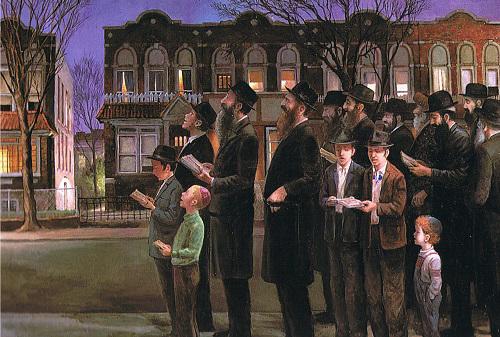 Kiddush Levanah in Brooklyn © by Zalman Kleinman