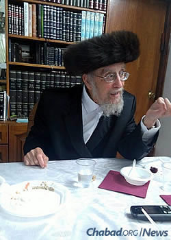 The rabbi in his later years