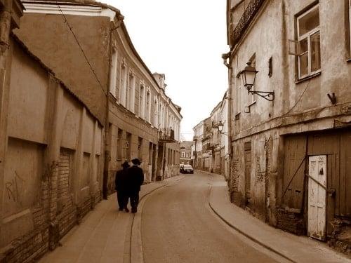 Walking in the former Vilna Ghetto