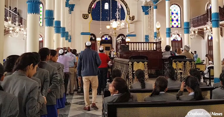 Jews and Muslims attend the rededication of a 161-year-old synagoge in Kolkata, India. (Photo: NDTV)