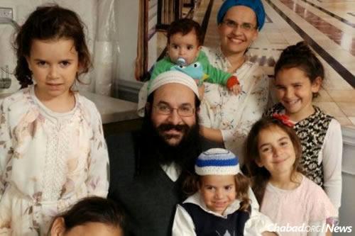 Rabbi Raziel Shevach, his wife Yael and their children