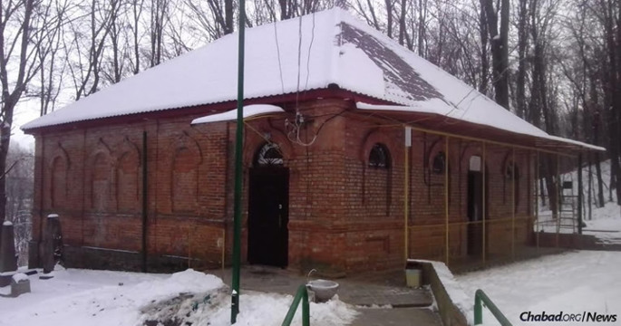 The resting place of Rabbi Schneur Zalman of Liadi, the founder of Chabad-Lubavitch, in the small town of Haditch, Ukraine. He passed away on this day (the 24th of the Hebrew month of Tevet) in 1813. (Photo: Uman Express)