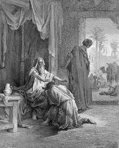 """Isaac Blessing Jacob"" by Gustave Dore"
