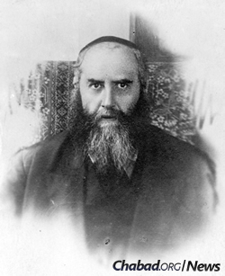 A portrait of the sixth Rebbe—Rabbi Yosef Yitzchak Schneersohn, of righteous memory—taken shortly before leaving the Soviet Union in 1927.
