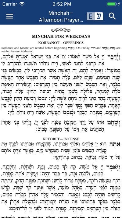 Siddur App - Annotated Hebrew/English Edition - A smart