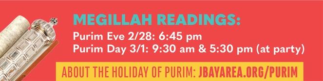 Megillah Reading Schedule