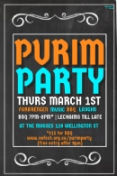 Purim Party 1 March 2018