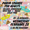 Purim Lounge for Adults