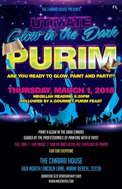 Purim at Chabad - Chabad Jewish Synagogue of Miami Beach