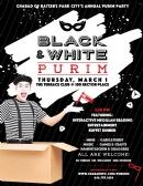 Purim Family Celebration - Black and White
