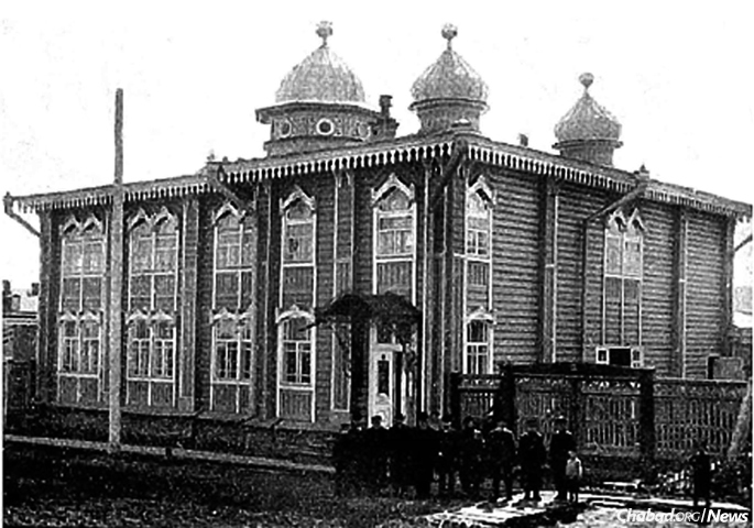 The synagogue, pictured here in its former glory, was confiscated by Soviet authorities in 1930. It was the last synagogue to remain open in Tomsk.