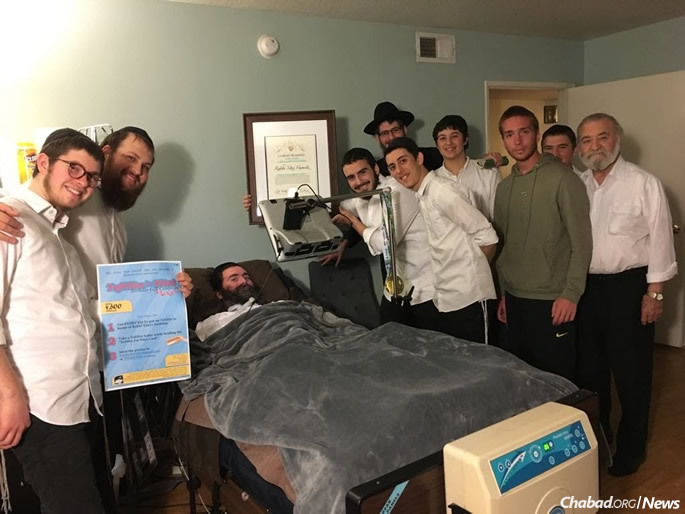 A group of rabbinical students in Los Angeles decided that an appropriate gift for Rabbi Yitzi would be 4,600 Jewish men wrapping tefillin and sending him photos of their mitzvah.