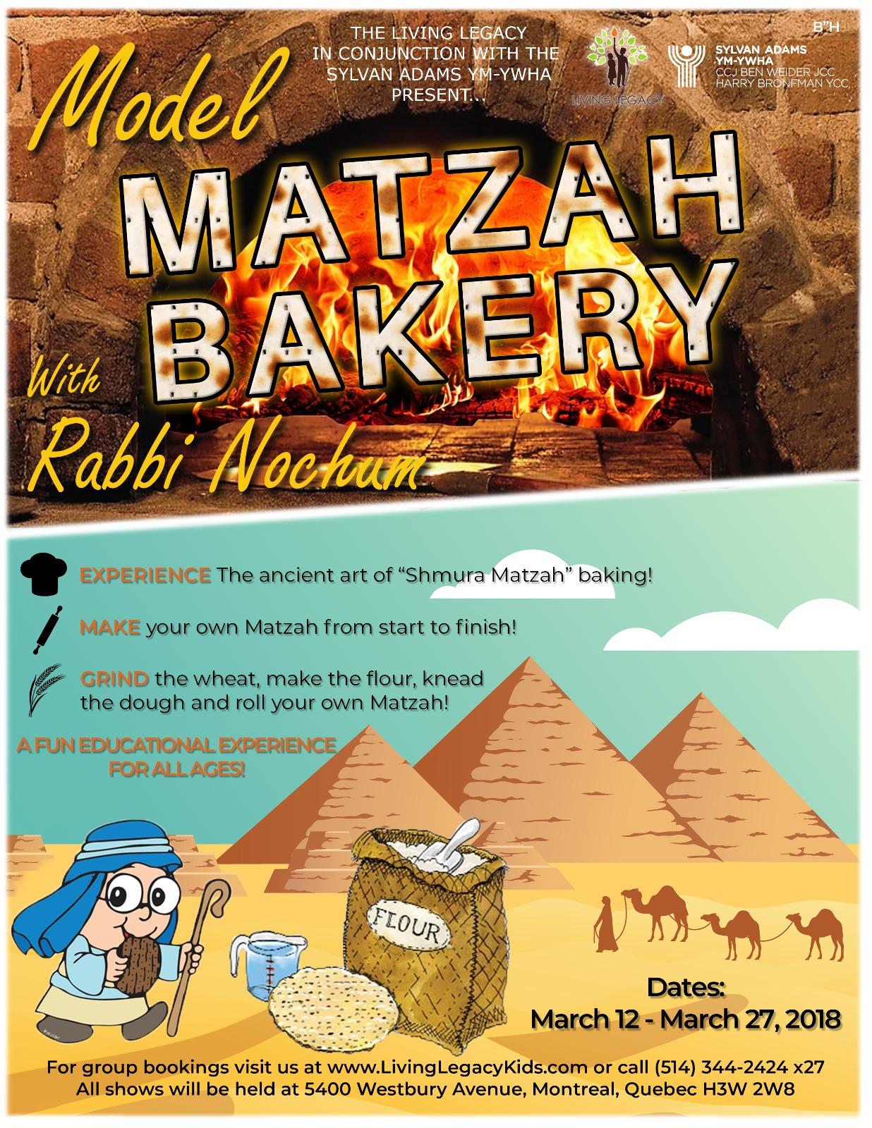 model matza bakery flyer 2018