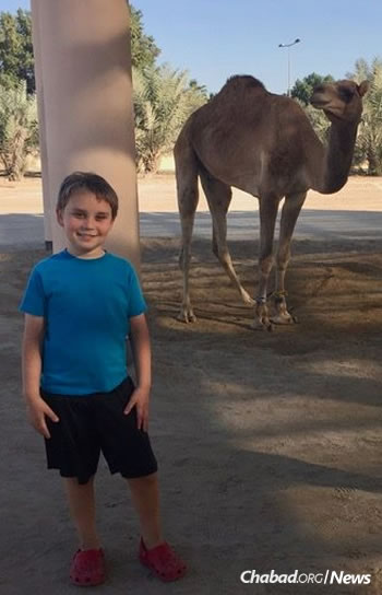 """Kai Shiratori, 10 years old, from Bahrain, said: """"The Jewish online school is unique because we can learn and see each other, and read exactly the same thing from thousands of miles away!"""""""