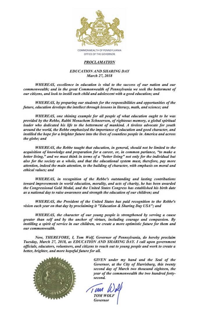 Education Day 2018: Proclamations From All 50 States - Life