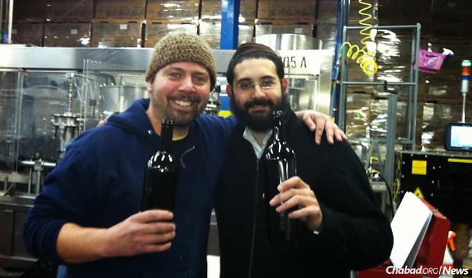 Hilel with Josh Klapper, who runs the La Fenêtre vineyards in nearby Arroyo Grande.
