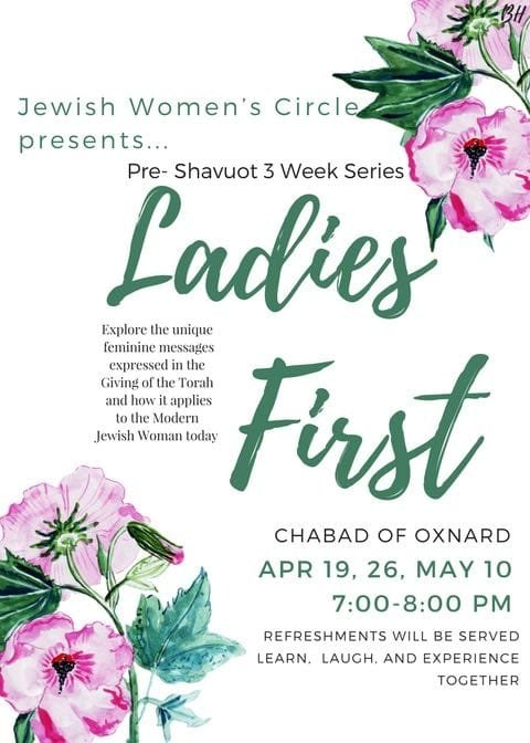 Ladies First Shavuot classes.jpg