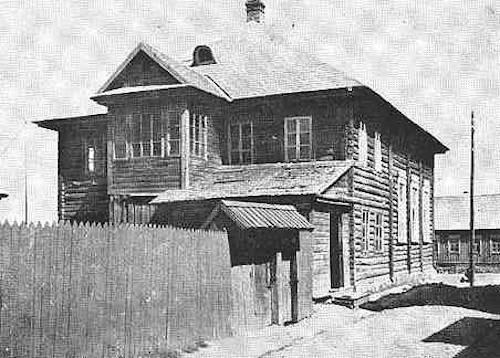 The Lubavitcher Synagogue in Dokshitz, where Kusheh Dokshitzer spent his days and nights in Torah study (image: jewishgen.org)