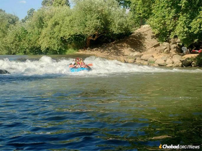 White-water rafting in Israel was a highlight for many of the trip participants.
