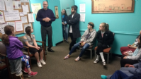Hebrew School visits the Pittsford Food Cupboard