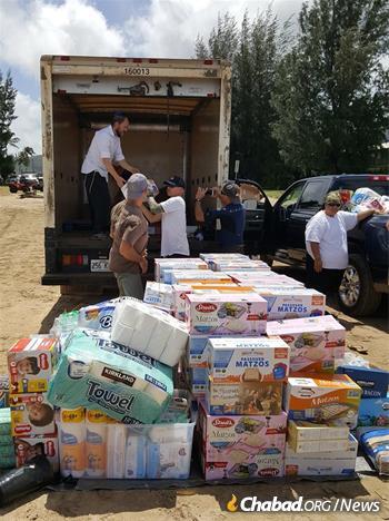 The relief work has been a community-wide effort.